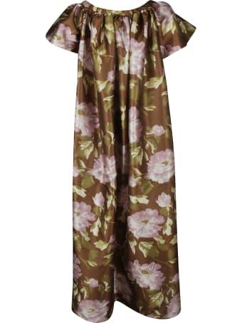 Rochas Floral Print Long Dress