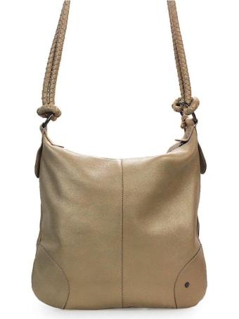 Rehard Metallic Beige Shoulder Bag