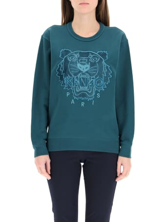Kenzo Hooded Sweatshirt Tiger Velvet Patch
