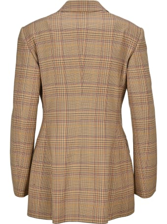 Burberry London Tartan Motif Tailored Jacket