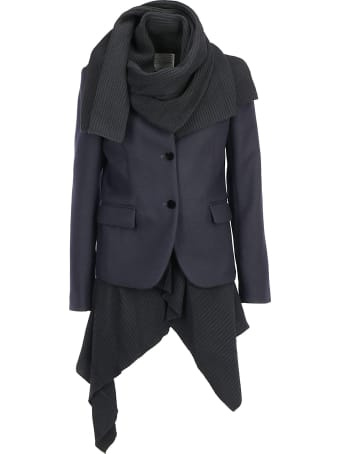 Sacai Melton Knit Coat
