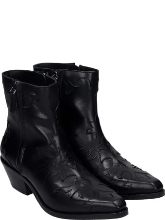 The Seller Texan Ankle Boots In Black Leather