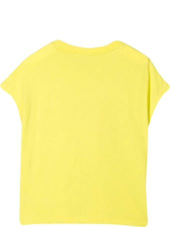 MSGM Yellow Teen T-shirt With Sequins