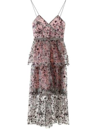 self-portrait Constellation Sequined Dress