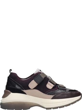 Lola Cruz Sneakers In Bordeaux Tech/synthetic