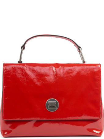 Coccinelle Red Lyana Patent Leather Tote Bag