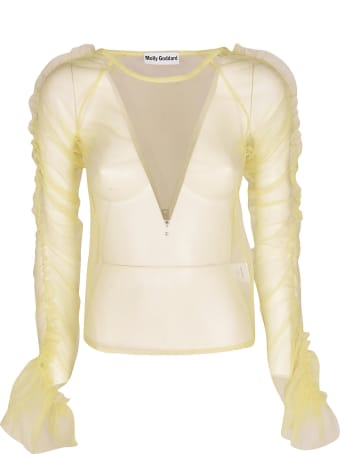 Molly Goddard Transparent Ruffled Top