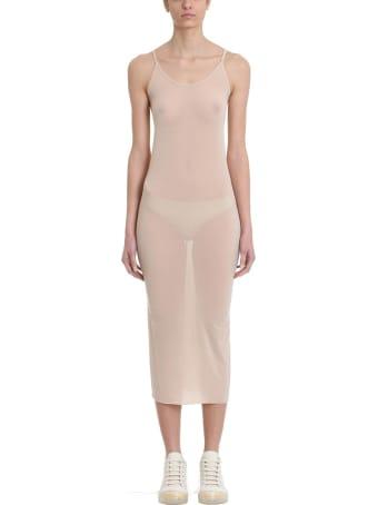 Rick Owens Lilies Nude Viscose Slip Dress