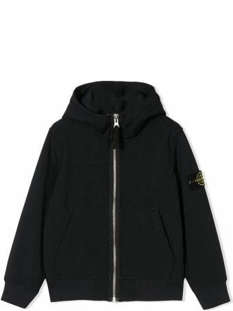 Stone Island Navy Logo Hooded Jacket