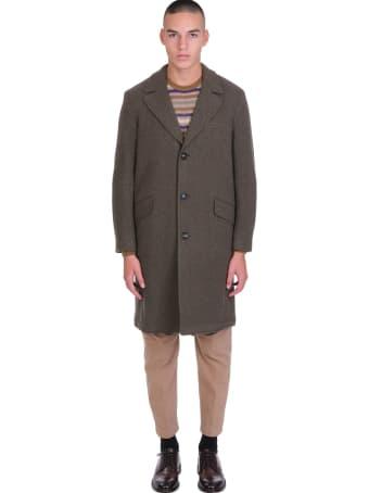 Massimo Alba Coat In Green Wool
