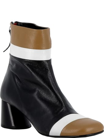 Halmanera Multicolor Leather Ankle Boots