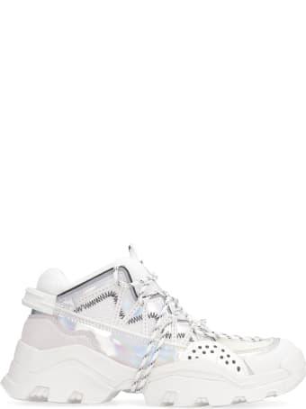 Kenzo Inka Suede And Techno Fabric Sneakers