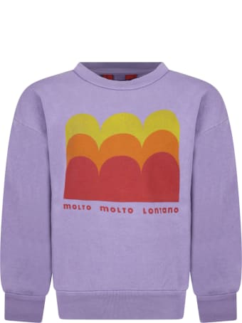 The Animals Observatory Purple Sweatshirt For Kids