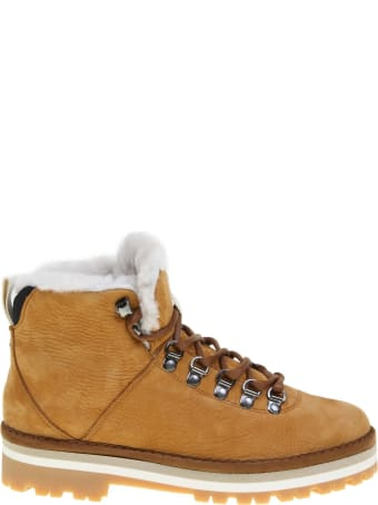 Panchic Ankle Boot In Nabuk Caramel Color