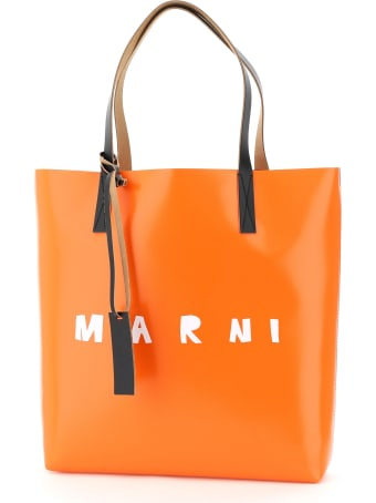 Marni Pvc Coated Tote Bag With Logo