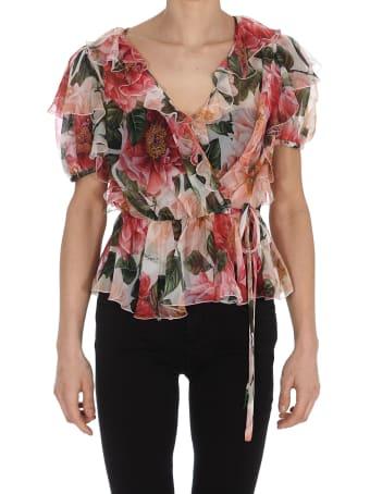Dolce & Gabbana Camelie Print Bluse