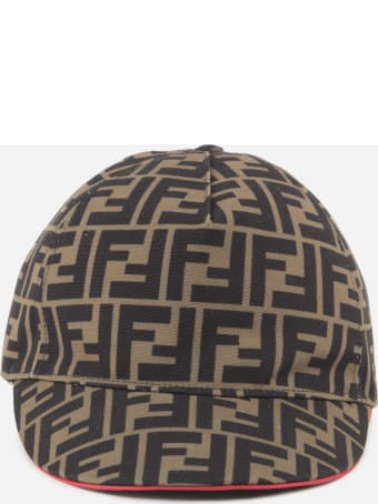 Fendi Baseball Hat With All-over Ff Print