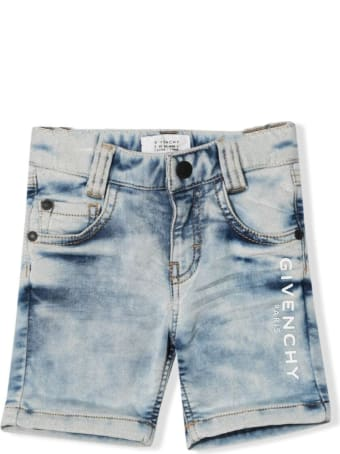 Givenchy Denim Shorts With Print