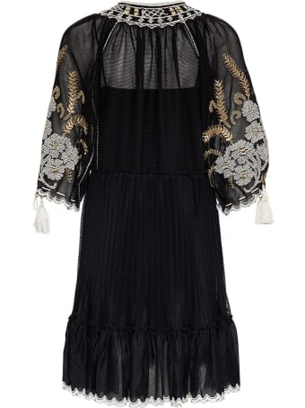 RED Valentino Mesh Dress With Floral Embroidery