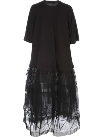 Simone Rocha Tutu T-shirt Dress W/embroidered Overlay