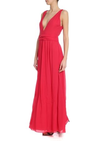 Patrizia Pepe Open Back Long Dress