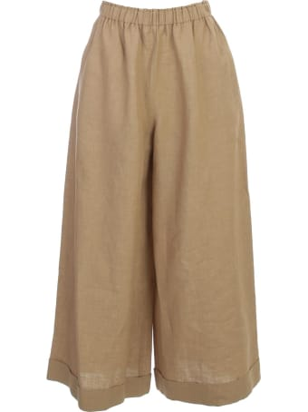 Daniela Gregis Linen Pants Elastic Waist