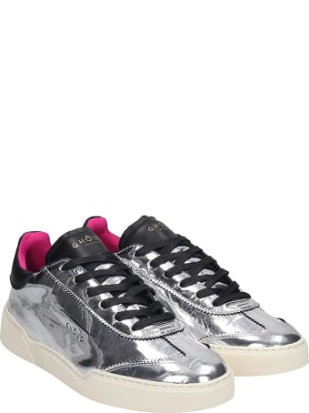 GHOUD Lob 01 Laminated Silver Leather Sneakers