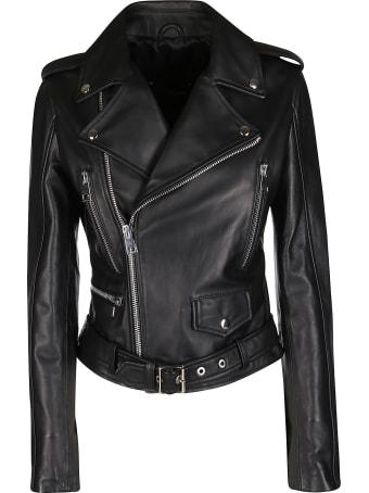 Manokhi Black Leather Jacket