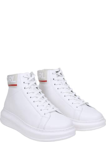 Karl Lagerfeld Sneakers Kapri Mens In White Leather