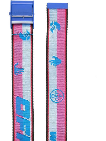 Off-White Classic Industrial Pink And Blue Belt