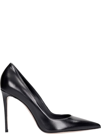 Le Silla Deco Eva 100 Pumps In Black Leather
