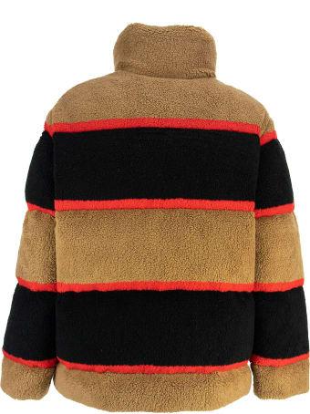 Burberry Bradfield - Colour Block Fleece Jacquard Puffer Jacket