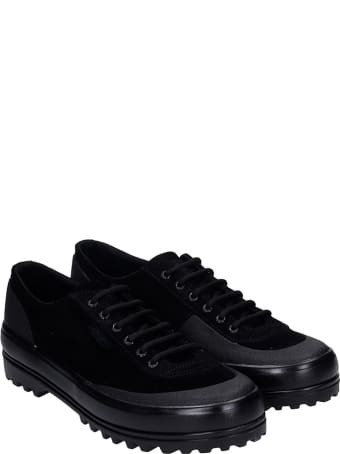Superga Cotseu  Sneakers In Black Suede
