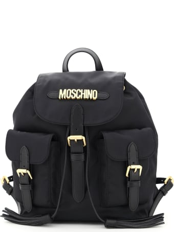 Moschino Fabric Backpack With Moschino Lettering