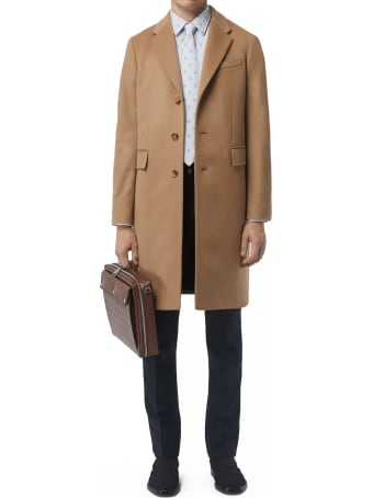 Burberry Wool And Cashmere Coat Beige
