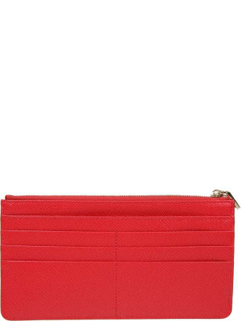 Dolce & Gabbana Card Holder In Red Leather
