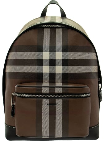 Burberry Check E-canvas Backpack Jett