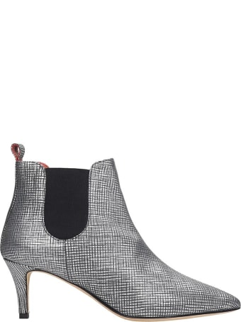 Bams Ankle Boots In Silver Leather