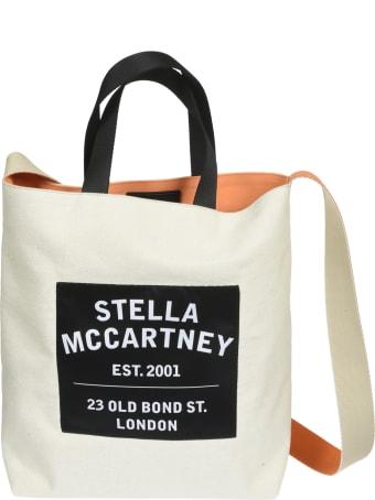 Stella McCartney Medium Logo Print Salt Tote