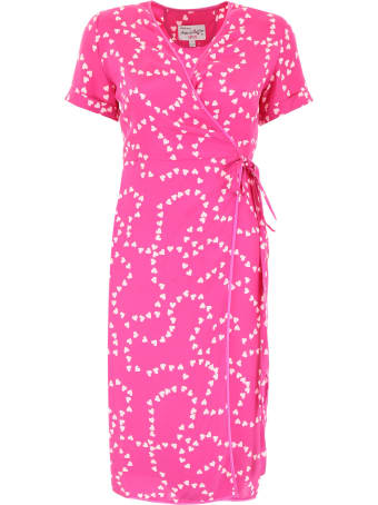 HVN Heart-printed Vera Dress