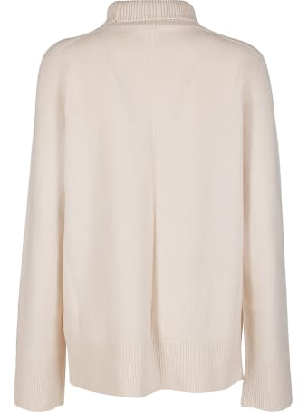 The Row Cream Wool-cashmere Blend Jumper