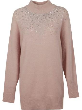 Blumarine Crystal Embellished Oversize Sweater