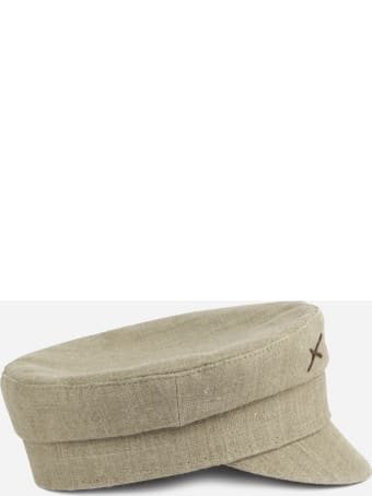 Ruslan Baginskiy Baker Boy Hat In Linen Canvas