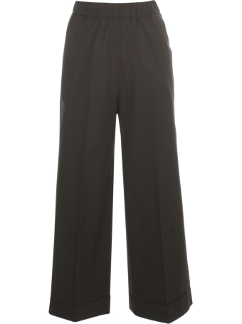 Kiltie & Co. Cotton Stretch Straight Cropped Elastic Pants