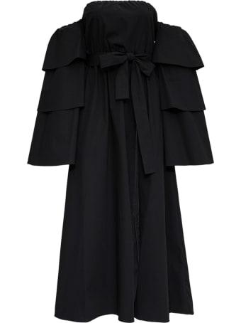 RED Valentino The Black Tag Dress In Cotton Poplin