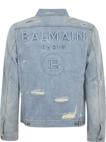 Balmain Back Logo Denim Jacket