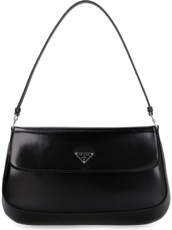 Prada Prada Cleo Leather Shoulder Bag