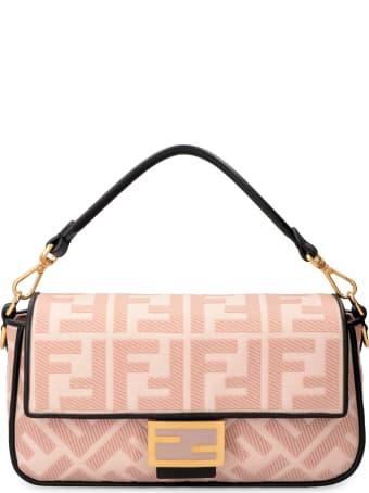 Fendi Baguette Embroidered Canvas Bag