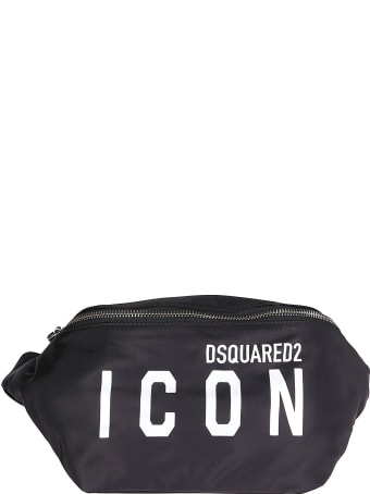 Dsquared2 Black Canvas Belt Bag