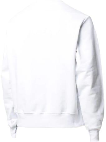 GCDS White Cotton Sweatshirt